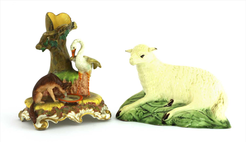Lot 11-A Ralph Wood creamware sheep