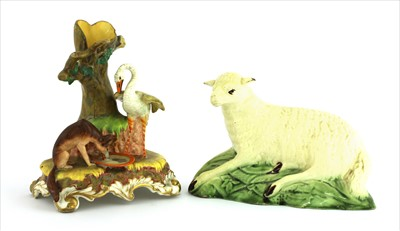 Lot 11-A Ralph Wood creamware sheep