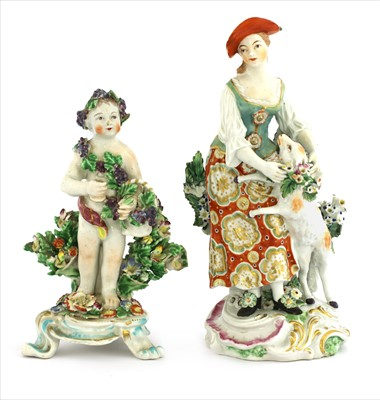 Lot 9-Two Derby figures