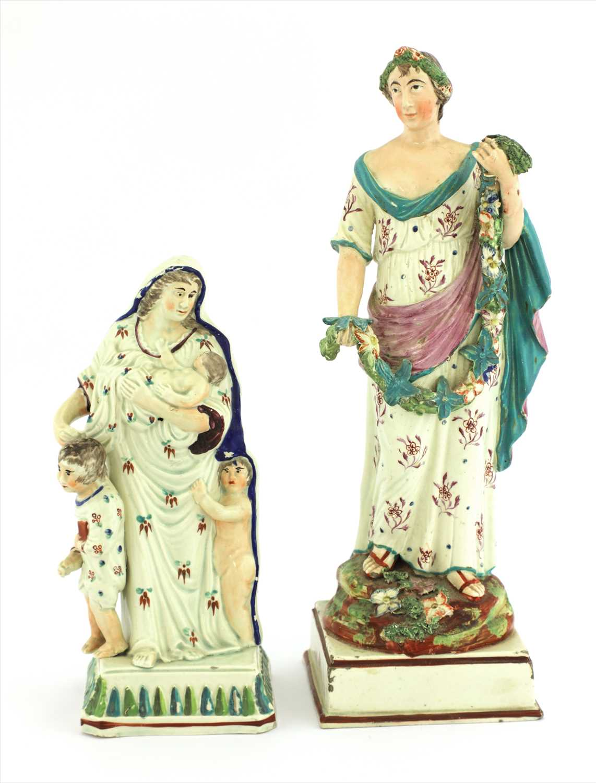 Lot 7-Five creamware figures