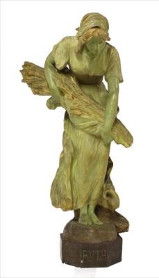 Lot 27-A Goldscheider patinated terracotta figure