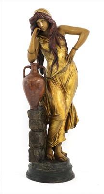 Lot 80 - A Goldscheider painted terracotta figure