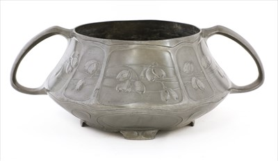 Lot 24-An Orivit pewter twin-handled bowl