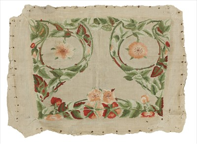 Lot 64 - An Arts & Crafts embroidered seat cover
