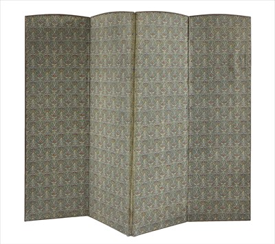 Lot 19-A four-fold dressing screen