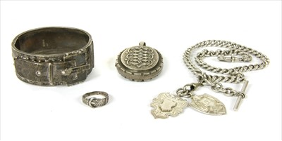 Lot 2-A quantity of Victorian sterling silver jewellery
