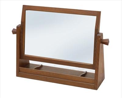Lot 254 - A walnut dressing table mirror