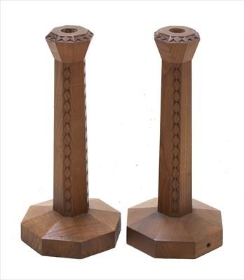 Lot 237 - A pair of oak table lamps