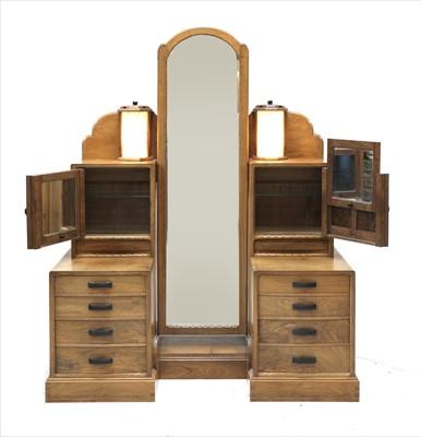 Lot 247 - A walnut dressing table