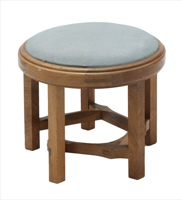 Lot 252 - A walnut and upholstered stool