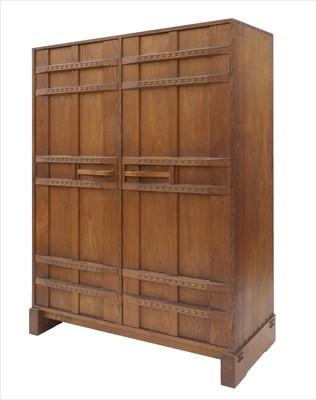 Lot 259 - An oak wardrobe