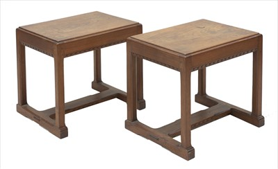 Lot 230 - Two walnut stools or tables