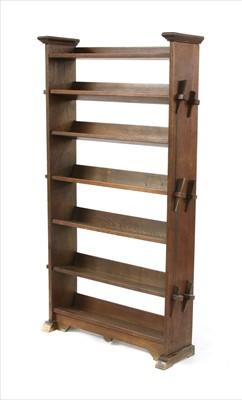 Lot 71 - An Arts & Crafts six-tier open bookshelf