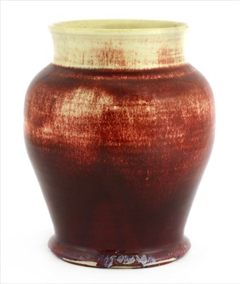 Lot 48-A Ruskin high-fired flambé vase