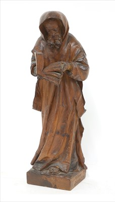 Lot 50-A Tyrolean carved pine figure of a monk