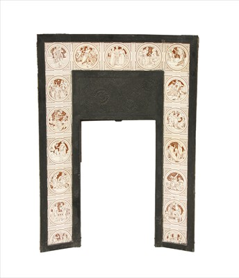 Lot 4-A Barnard, Bishop & Barnards cast iron fire surround