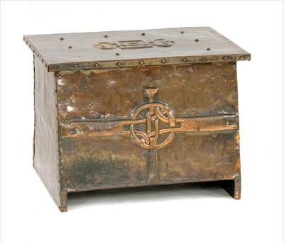 Lot 37-An Arts & Crafts fire box