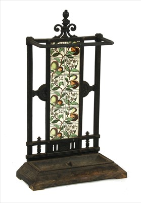 Lot 22 - An Aesthetic cast iron stick stand
