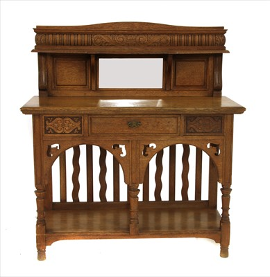 Lot 10-An Arts & Crafts oak hall table