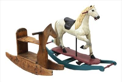 Lot 26-CAROUSEL ROCKING HORSE