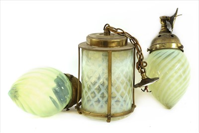 Lot 173 - Two opaline glass shades