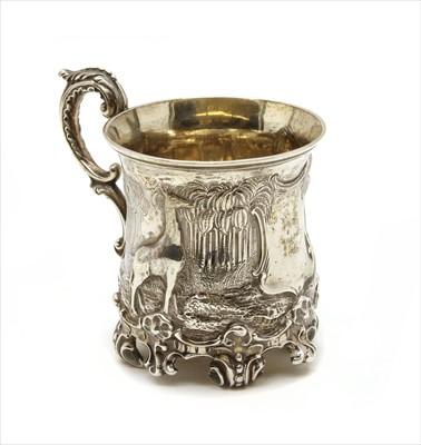 Lot 77 - An early Victorian silver christening mug