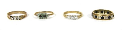 Lot 15-Four 9ct gold rings