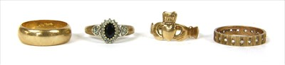 Lot 22-Four 9ct gold rings