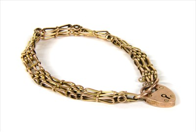 Lot 9-A gold gate bracelet