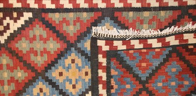 Lot 640 - A Persian Varamin kilim runner