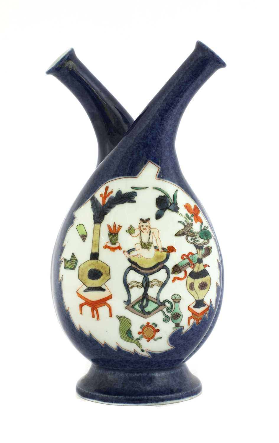 Lot 14-A Chinese oil and vinegar bottle