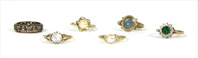 Lot 20-Six gold rings