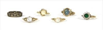 Lot 20-Six gold rings