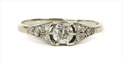 Lot 8-A white gold diamond ring