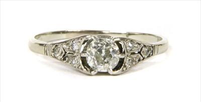 Lot 8-A white gold diamond ring