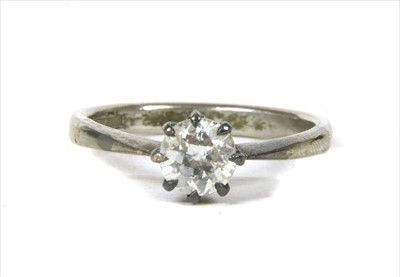 Lot 11-A single stone diamond ring