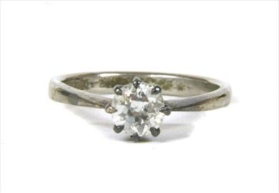 Lot 11-A single stone diamond ring
