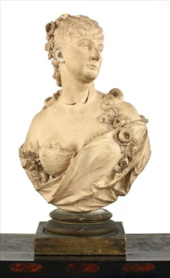 Lot 31-A French terracotta bust