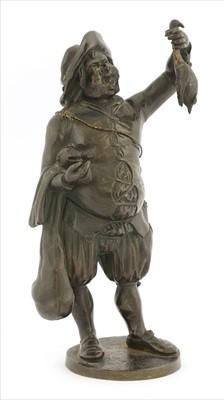Lot 36-A Continental sectional bronze figure