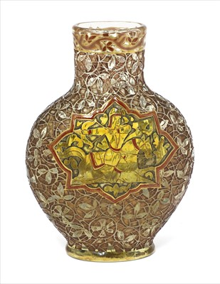 Lot 21-A rare Gallé glass Persian-style vase