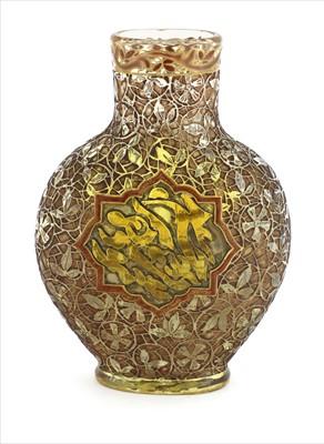 Lot 21 - A rare Gallé glass Persian-style vase