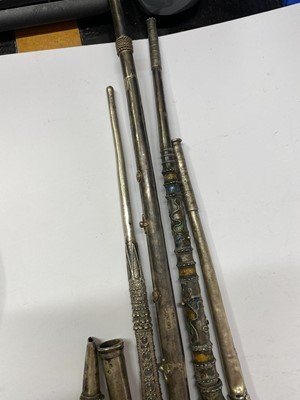 Lot 7-Five Thai silver pipes