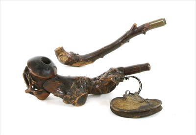 Lot 43-A Chinese rootwood pipe