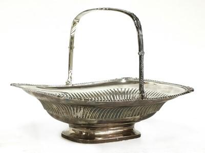 Lot 1 - A George III silver bread basket