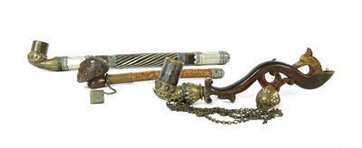 Lot 14-Three Persian pipes