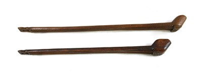 Lot 5-Two rare softwood double pipe cases