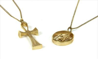Lot 24-A gold ankh cross