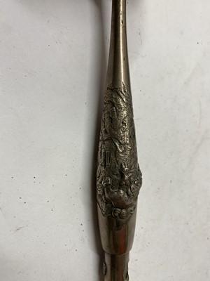 Lot 22-A Japanese silver kiseru tobacco pipe