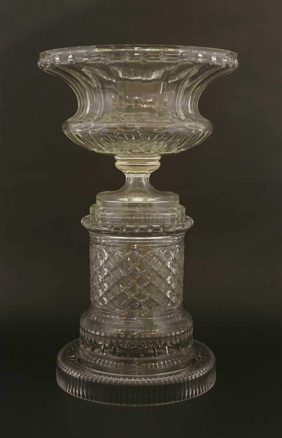 Lot 25-A William Yeoward cut-glass centrepiece