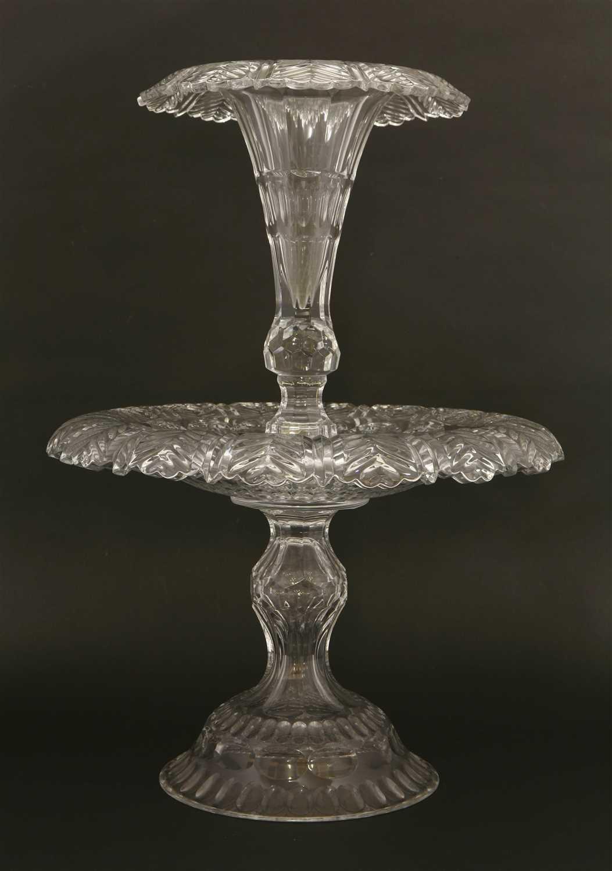 Lot 26-A William Yeoward cut-glass centrepiece